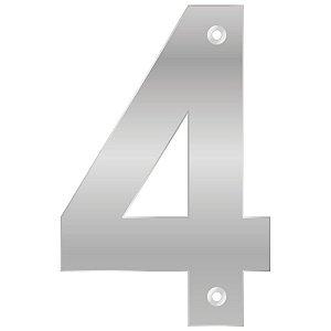 Bemfixa - Número Residencial ABS 4 - Alumínio - 145mm