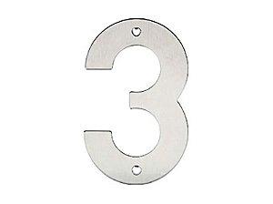 Bemfixa - Número Residencial em Inox - 3 - 145mm