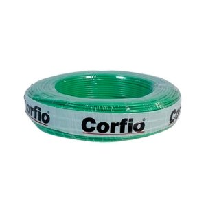 Corfio - Rolo Cabo Flexível 750V 02,50mm 100MT Verde  - Antichama BWF  (ftz)
