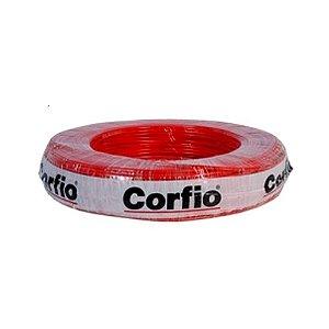Corfio - Rolo Cabo Flexível 750V 02,50mm 100MT Vermelho - Antichama BWF  (ftz)