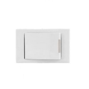 INTERNEED - (MOBILAR-065265) - Conjunto Tecla Simples Branco - 36mm - (ftz)