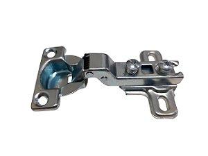 Jomarca - Dobradiça de Caneco Curva 26mm + Calço 5mm - Zincado Branco