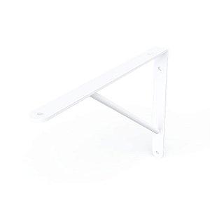 DiCarlo - Suporte Mão Francesa Branco - 30cm - s/ Kit de Montagem