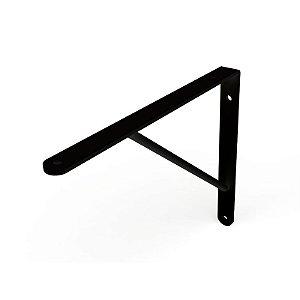 DiCarlo - Suporte Mão Francesa Preto - 30cm - s/ Kit de Montagem