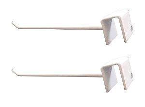 DiCarlo - Gancho p/ Barra Reta Branco 10 x 20 - 10cm - Embalagem com 2 unidades - 1116FPA01.0013