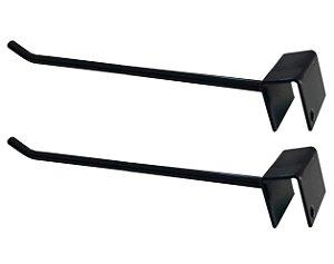 DiCarlo - Gancho p/ Barra Reta Preto 10 x 20 - 20cm - Embalagem com 2 unidades - 1210FPA06.0002