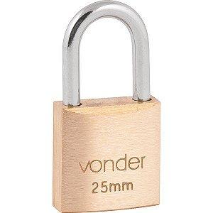 VONDER - Cadeado de Latão c/ 2 Chaves - 25mm