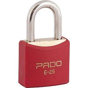 Pado - Cadeado de Latão Plastificado Vermelho - 25mm