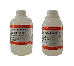 Redelease - Kit Resina Epoxi RUV4230 1kg  - Altas Espessuras