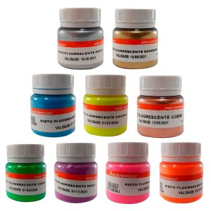 Redelease - Kit c/ 9 Pigmentos Fluorescentes em Pó - (15g)