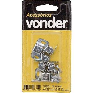 VONDER - Fecho Para Moveis Rolete Pacote c/ 2 Unidades