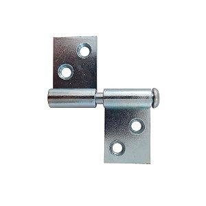 Gubler - Dobradiça Basculante c/ 2 asas (Gonzos) de Ferro Zincado