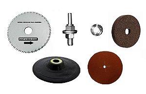 Kerbus - (Kit) Hobby - Acessórios p/ Furadeira c/  Peças (serve suporte 3x1)