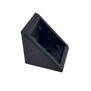 BIGFER - Cantoneira Plástica (R) - 20 x 20mm - Preto