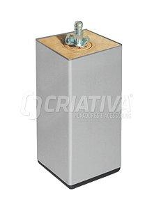 Criativa - Pé Quadrado p/ Móveis - 38mm x 5cm - Alumínio
