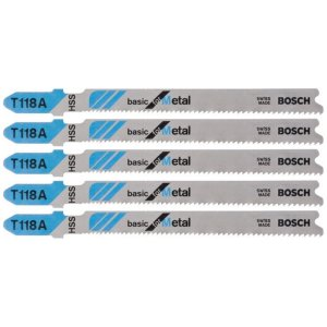Bosch - Lâmina de Serra Tico-Tico para Metal T118A - Basic for Metal - c/ 5 unidades