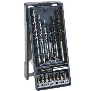 Bosch - Mini XLine com 15 Brocas e Adaptadores