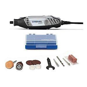 Dremel - Micro Retílica 3000 - 90W 220V - com 10 acessórios