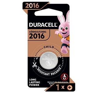 DURACELL - Bateria CR2016 3V Lithium - c/ 1 unidade