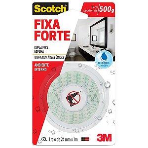 3M - Fita Dupla Face - Fixa Forte Banheiro Áreas Úmidas - 24mm x 1m