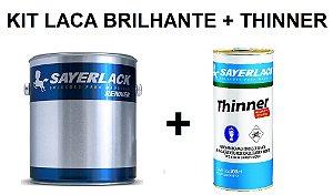 Sayerlack - KIT Laca Nitro Branca Brilhante (3,6L) + Thinner