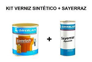 Sayerlack - KIT Verniz Sintético Sintelack 900ml + Aguarras Sayerraz