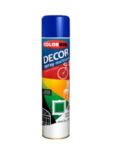 Colorgin - Tinta Spray Decor 360ml - Azul Colonial - 8611