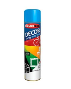 Colorgin - Tinta Spray Decor 360ml - Azul Médio –  8621