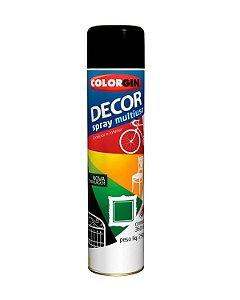 Colorgin - Tinta Spray Decor 360ml - Preto Fosco - 8711