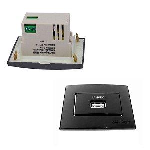 MarGirius - Conjunto Módulos USB Sleek - 1A-BIV EBONY - Preto (PA016785)