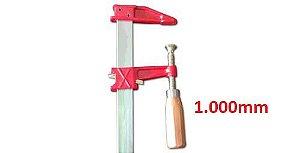 """JAB Tools - Sargento Barra Chata """"F"""" 1.000mm SGT-011"""
