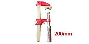 """JAB Tools - Sargento Barra Chata """"F"""" com Prisma 0.200mm SGT-017"""