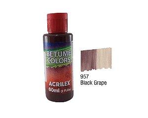 Acrilex - Betume Colors 60ml - Black Grape (957)