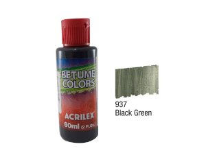 Acrilex - Betume Colors 60ml - Black Green (937)