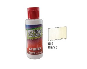 Acrilex - Betume Colors 60ml - Branco (519)