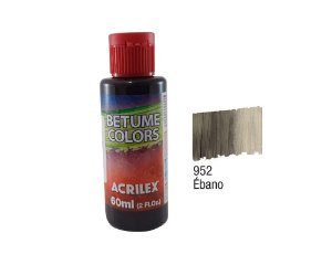 Acrilex - Betume Colors 60ml - Ebano (952)