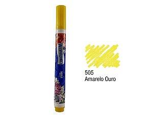 Acrilex - Caneta p/ Marcar Tecidos - Acrilpen - Amarelo Ouro (505)