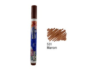 Acrilex - Caneta p/ Marcar Tecidos - Acrilpen - Marrom (531)