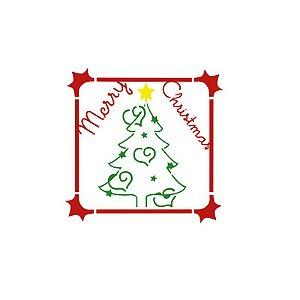 Acrilex - Molde p/ Pintura - Stencil 130 x 130mm - Árvore de Natal (228)