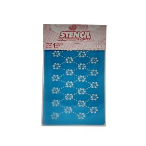 Acrilex - Molde p/ Pintura - Stencil 210 x 150mm - Flores (225)