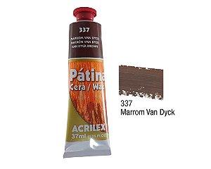 Acrilex - Patina em Cera 37ml - Marrom (337)