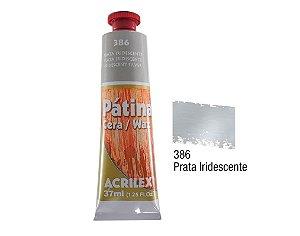 Acrilex - Patina em Cera 37ml - Prata (386)