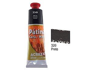 Acrilex - Patina em Cera 37ml - Preto (320)