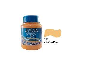 Acrilex - Tinta Acrílica Brilhante 100ml - Amarelo Pele (538)