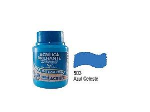 Acrilex - Tinta Acrílica Brilhante 100ml - Azul Celeste (503)