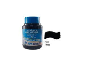 Acrilex - Tinta Acrílica Brilhante 100ml - Preto (520)