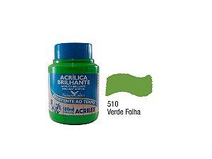 Acrilex - Tinta Acrílica Brilhante 100ml - Verde Folha (510)
