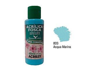 Acrilex - Tinta Acrílica Fosca 60ml - Acqua Marina (803)
