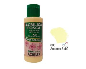 Acrilex - Tinta Acrílica Fosca 60ml - Amarelo Bebe (808)