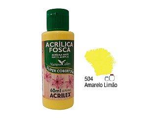 Acrilex - Tinta Acrílica Fosca 60ml - Amarelo Limão (504)